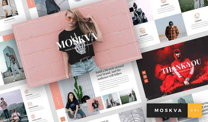 Moskva Fashion google slides theme presentation template
