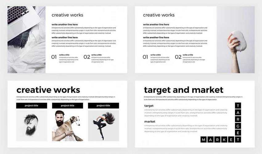 Minimal Professional google slides theme presentation template free