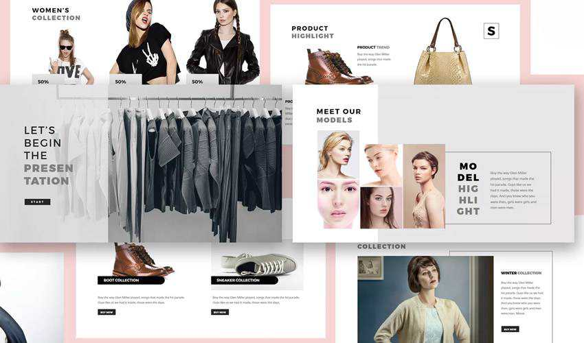 Fashion Lookbook google slides theme presentation template