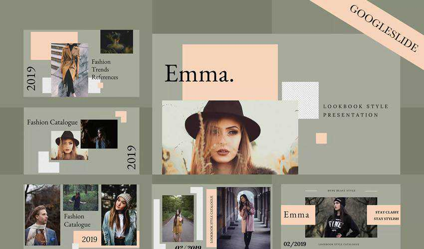 emma google slides theme presentation template