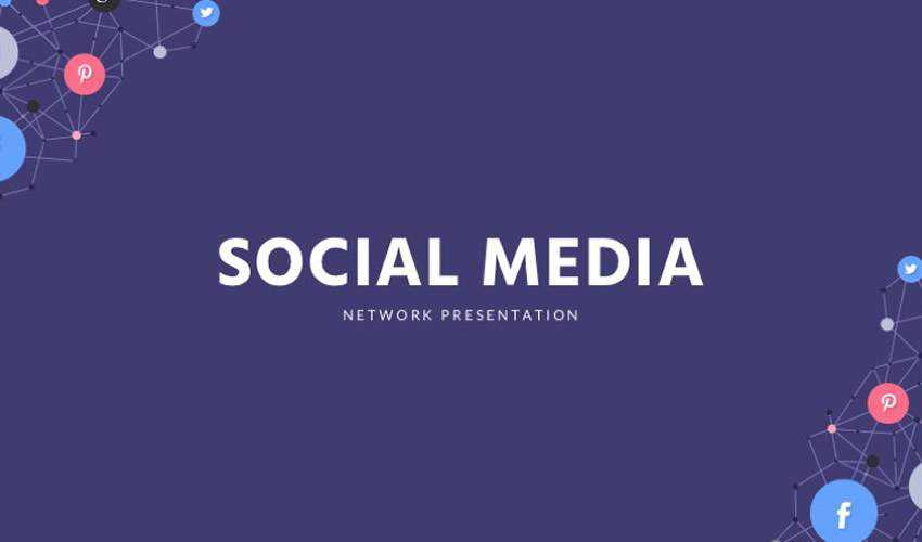 Social Media google slides theme presentation template free
