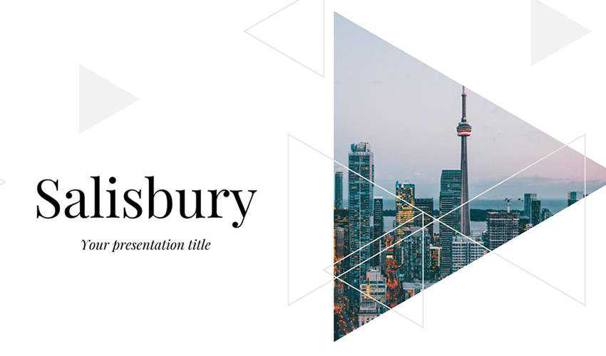 Salisbury google slides theme presentation template free