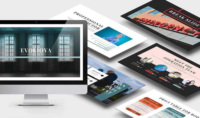Evoliova Medical google slides theme presentation template