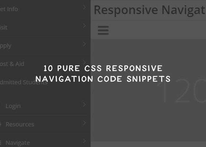 10 CSS & JavaScript Responsive Navigation Code Snippets