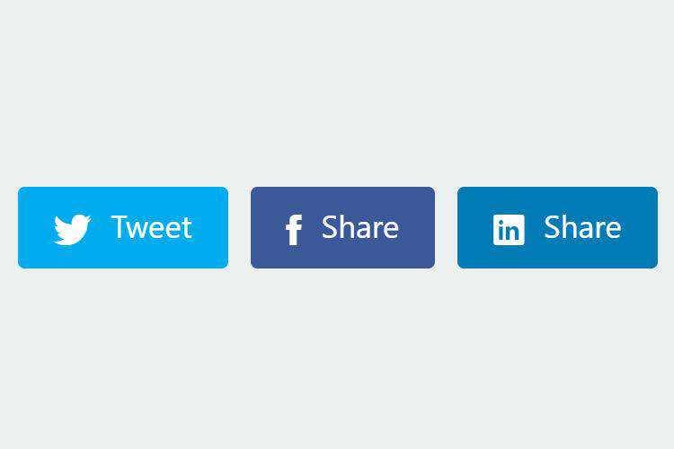 9 Custom CSS & JavaScript Social Sharing Buttons
