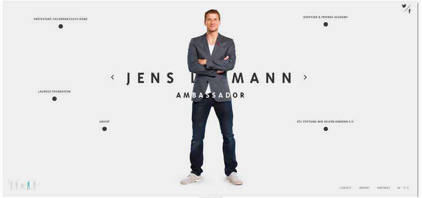 Jens Lehmann sport fitness web design inspiration ui ux