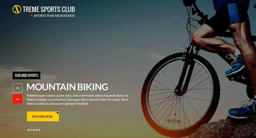 Xtreme Sports Club sport fitness web design inspiration ui ux