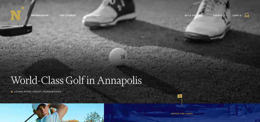Naval Academy Golf Course sport fitness web design inspiration ui ux
