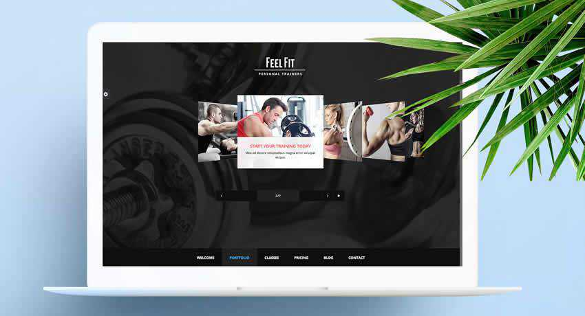 Personal Trainer sport fitness web design inspiration ui ux