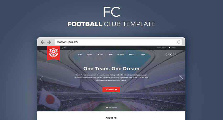Football Club sport fitness web design inspiration ui ux