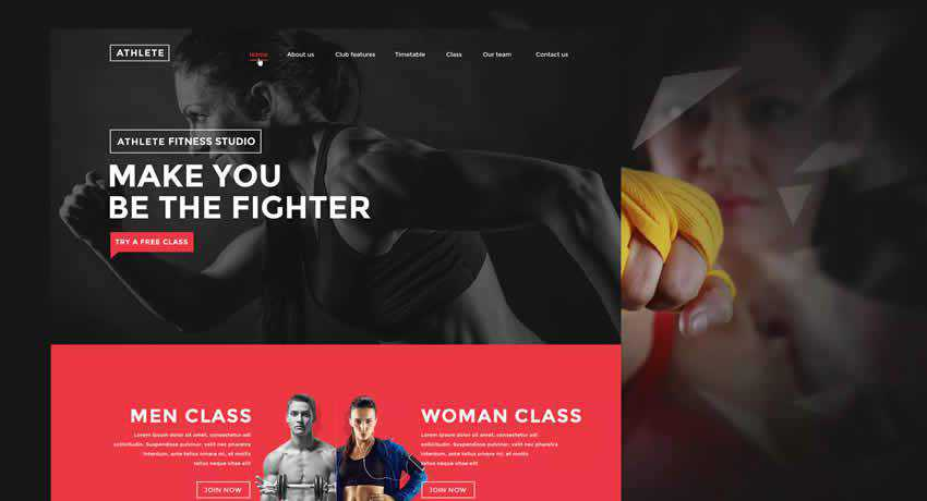 Fitness Gym sport fitness web design inspiration ui ux