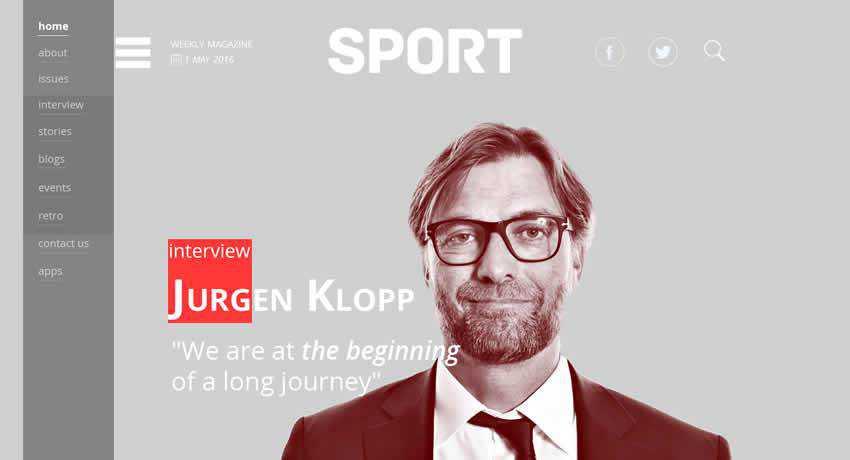 SPORT Magazine sport fitness web design inspiration ui ux
