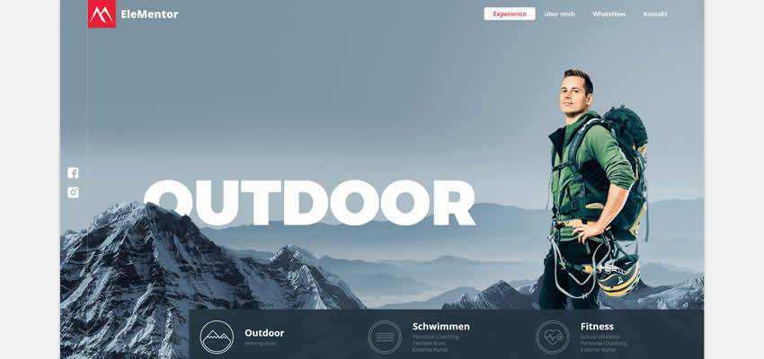 Elementor sport fitness web design inspiration ui ux