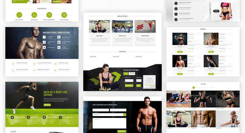 Fitness Zone sport fitness web design inspiration ui ux