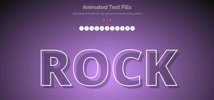 Animated Text Fills by Tympanus