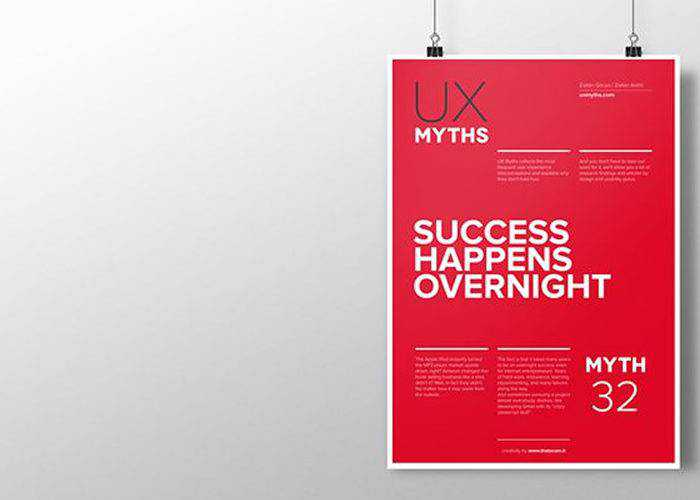 32 Posters That Debunk Common UX Misconceptions