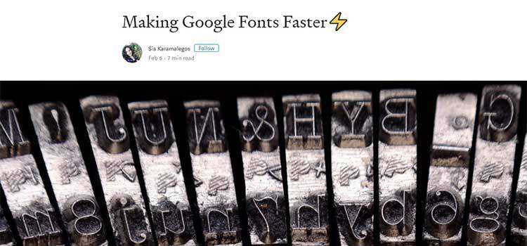 Making Google Fonts Faster