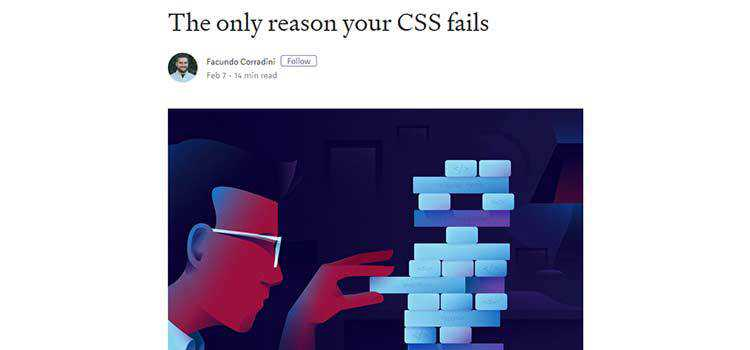The only reason your CSS fails