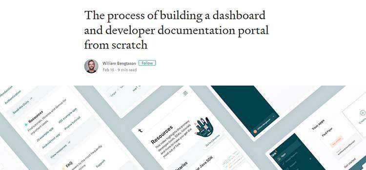 The process of building a dashboard and developer documentation portal from scratch