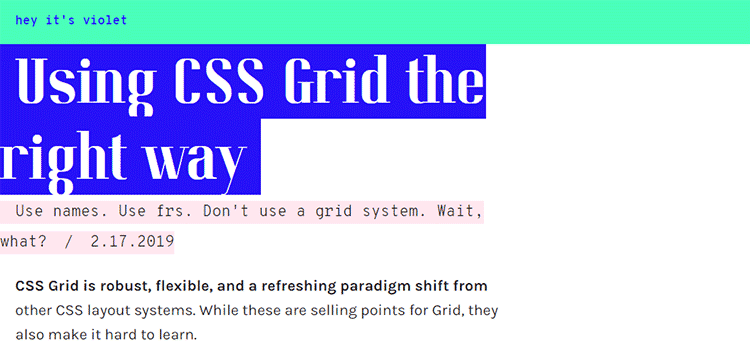 Using CSS Grid the right way