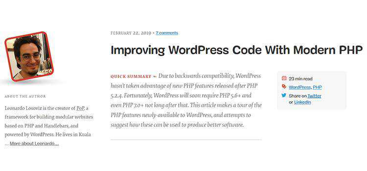 Improving WordPress Code With Modern PHP