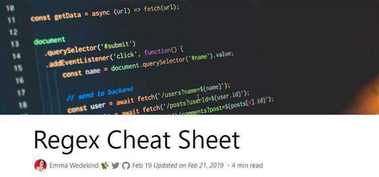 Regex Cheat Sheet