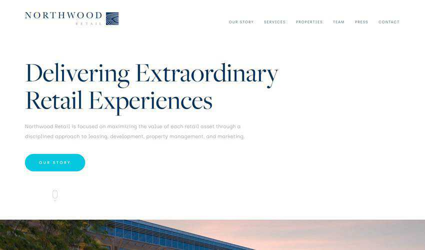 Northwood Retail business corporate website web design inspiration ui ux