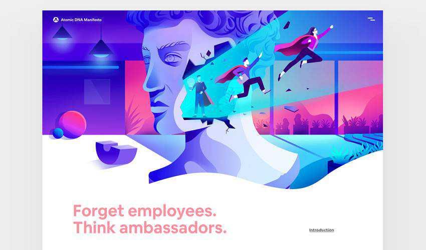 Atomic DNA Manifesto Design business corporate website web design inspiration ui ux