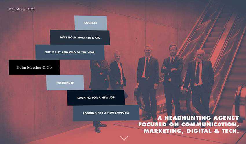 Holm Marcher Co business corporate website web design inspiration ui ux