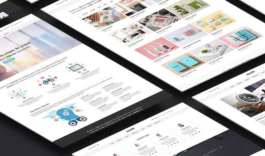 Morello Business Site Template corporate website web design inspiration ui ux
