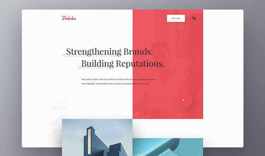 Pinkston Digital business corporate website web design inspiration ui ux