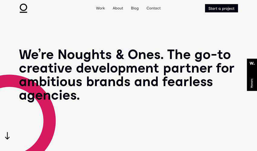Noughts Ones business corporate website web design inspiration ui ux