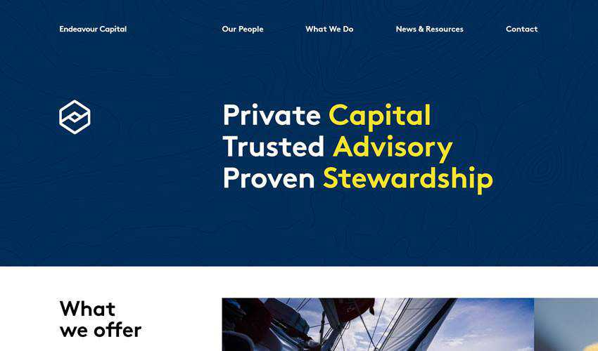 Endeavour Capital business corporate website web design inspiration ui ux