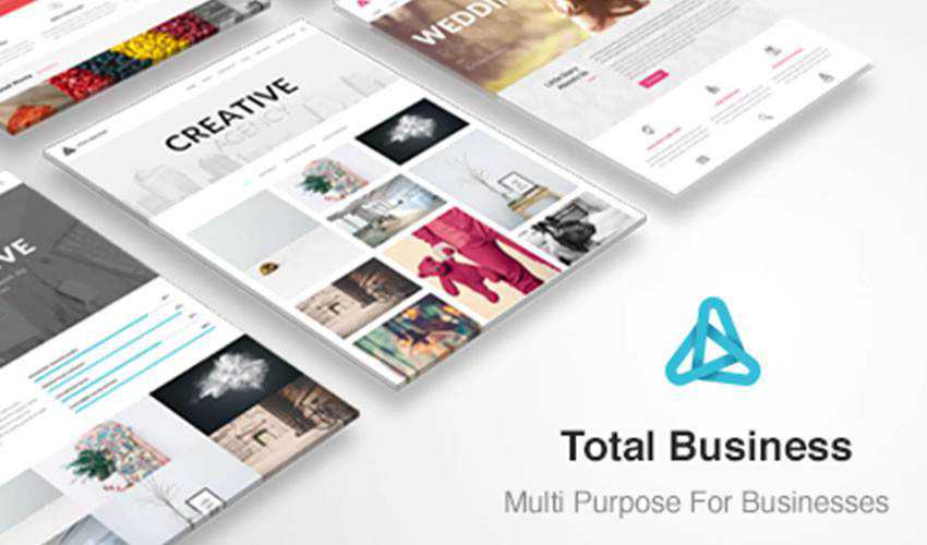 Total Business HTML Template corporate website web design inspiration ui ux