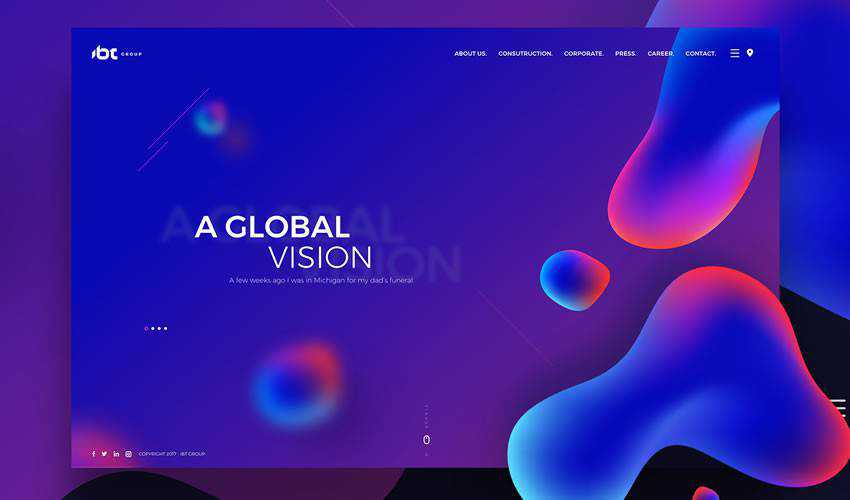 IBT Group business corporate website web design inspiration ui ux