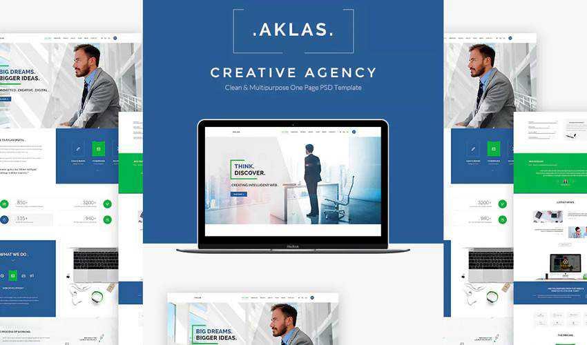 Aklas Business HTML corporate website web design inspiration ui ux