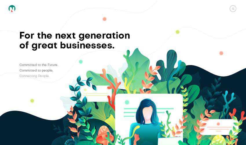 Page Illustration business corporate website web design inspiration ui ux