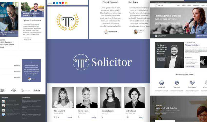 Solicitor Template business corporate website web design inspiration ui ux