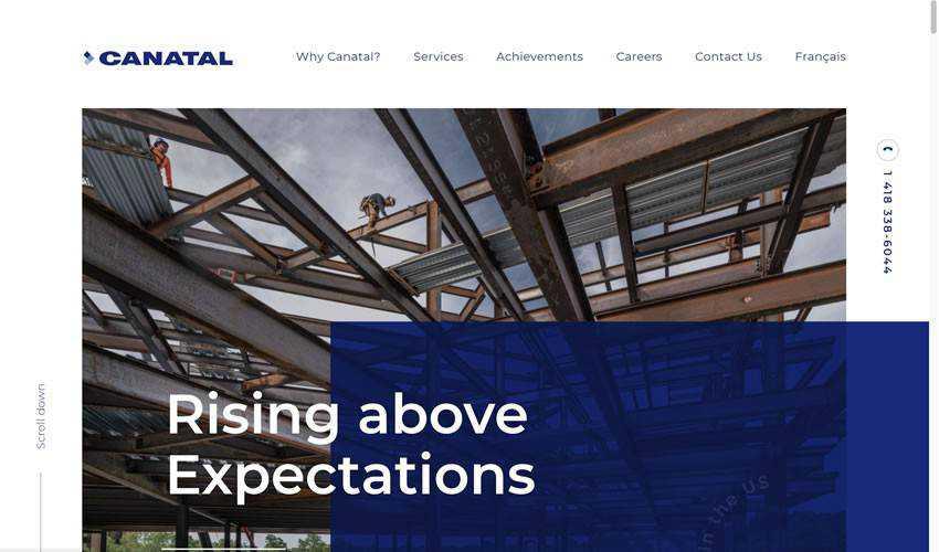 Canatal business corporate website web design inspiration ui ux