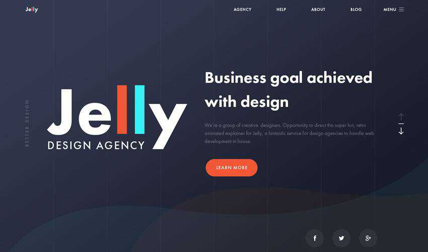 Jelly Agency business corporate website web design inspiration ui ux