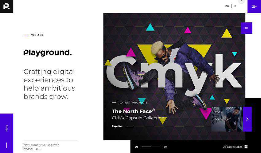 Playground business corporate website web design inspiration ui ux