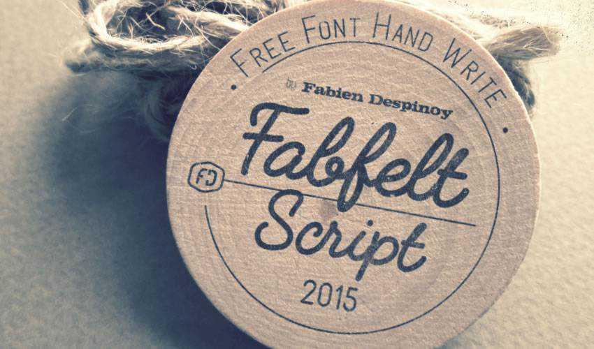 free font calligraphy typography script Fabfelt Script
