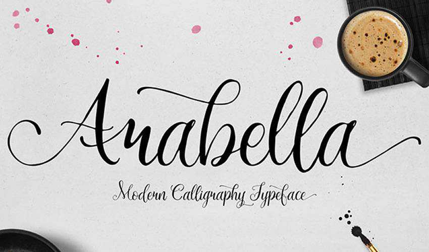 free font calligraphy typography script Arabella Script