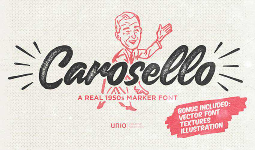free font calligraphy typography script Carosello