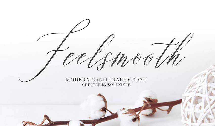 free font calligraphy typography script Feelsmooth Script