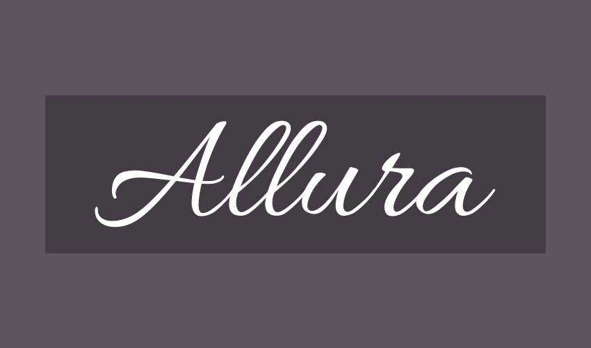 free font calligraphy typography script Allura