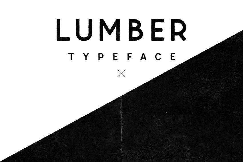 Lumber Typeface clean font