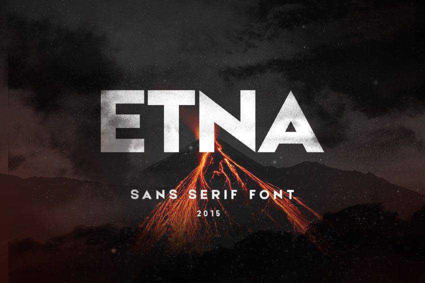 Etna Sans Serif clean font