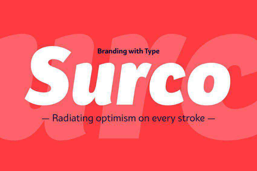 Bw Surco Font Family clean font