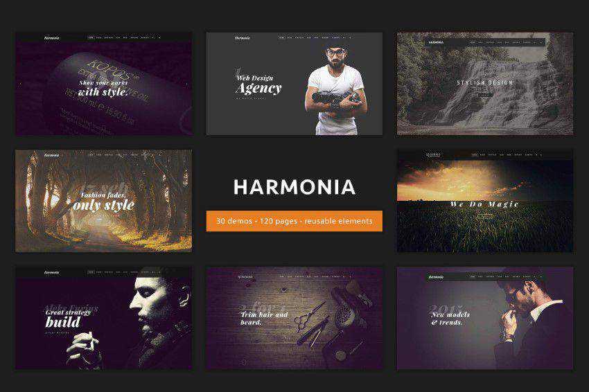 Harmonia homepage web design responsive web inspiration